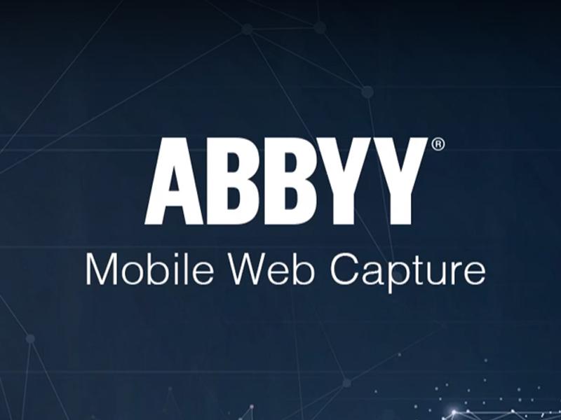 ABBYY lança integração de captura SDK Mobile Web